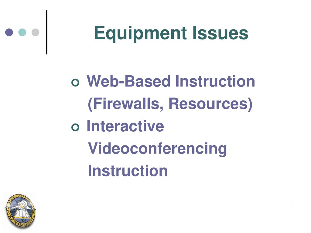 Equipment Issues
