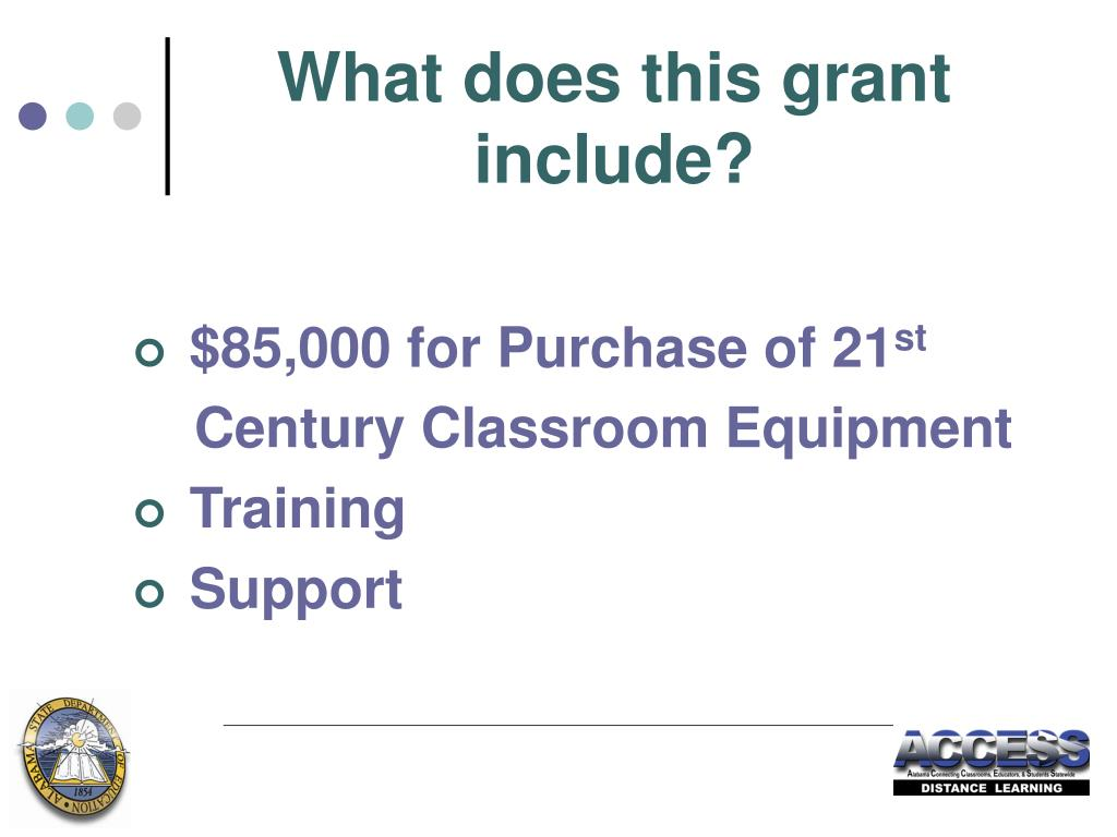 What does this grant include?