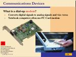 communications devices31