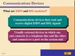 communications devices32