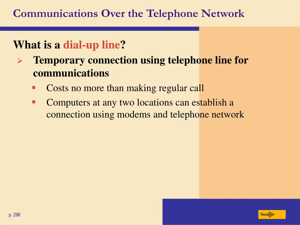 Communications Over the Telephone Network