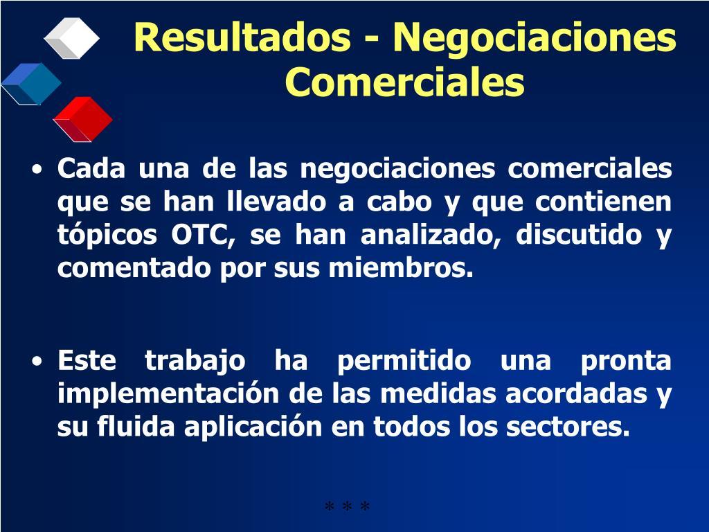 Resultados - Negociaciones Comerciales