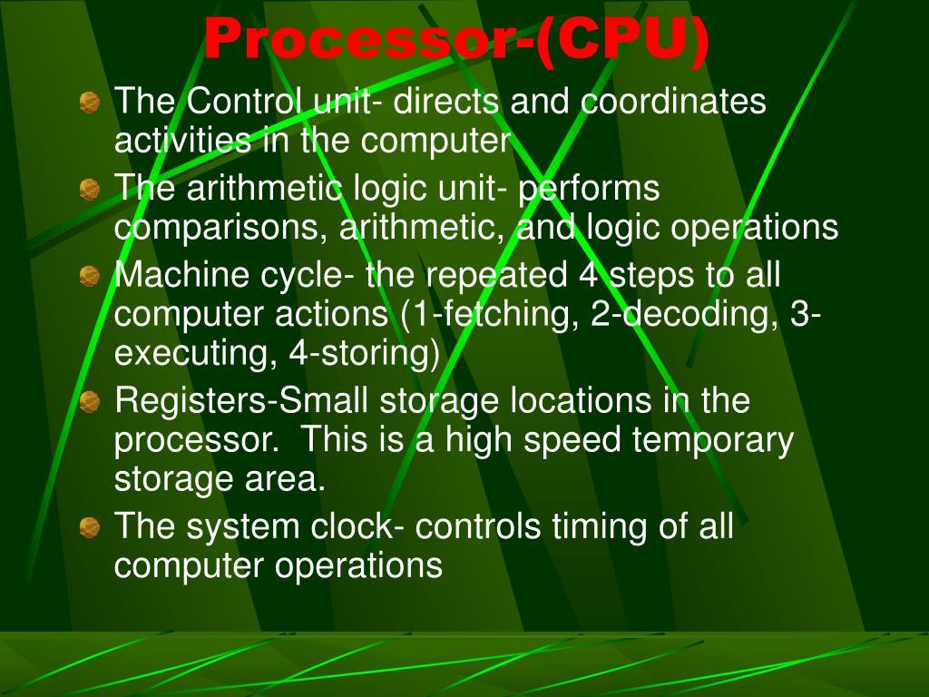 Processor-(CPU)
