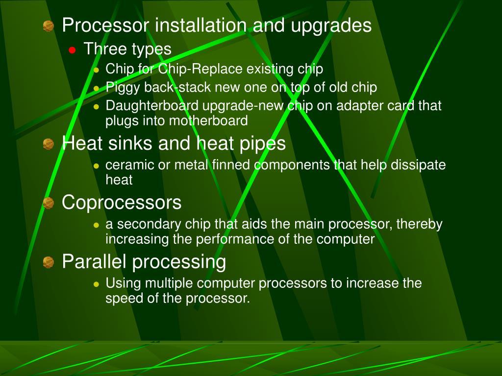 Processor installation and upgrades