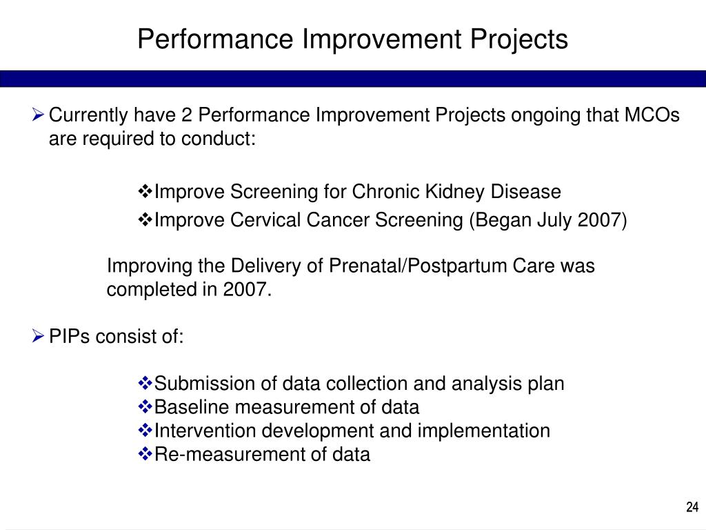 Performance Improvement Projects