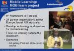 mobile learning mobilearn project www mobilearn org