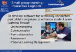 small group learning interactive logbook