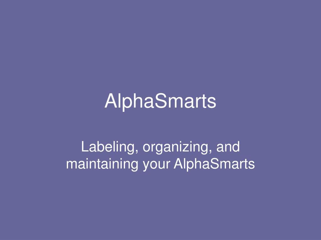 AlphaSmarts