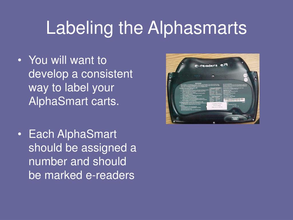 Labeling the Alphasmarts