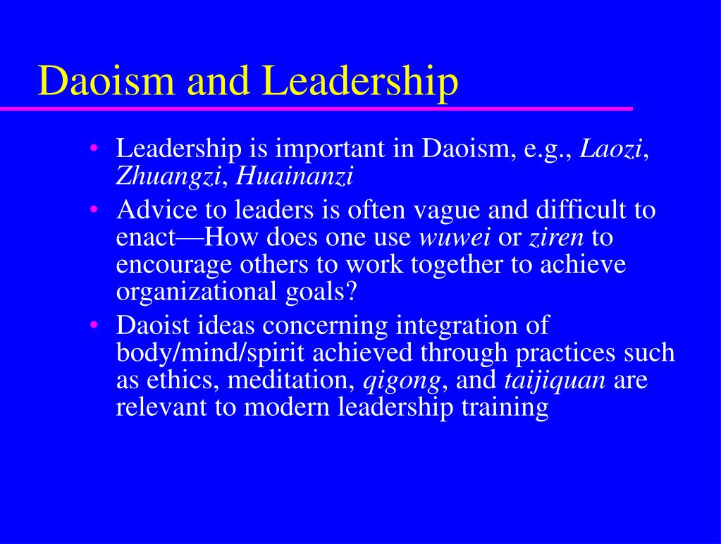 Daoism and Leadership