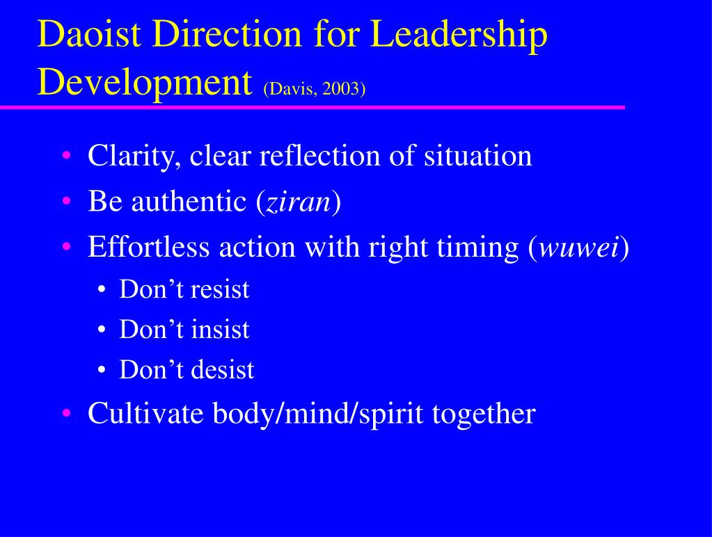 Daoist Direction for Leadership Development