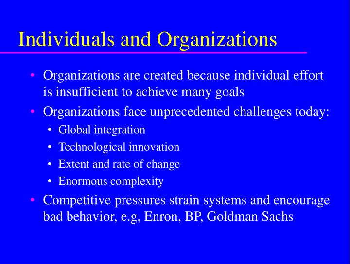 Individuals and organizations l.jpg