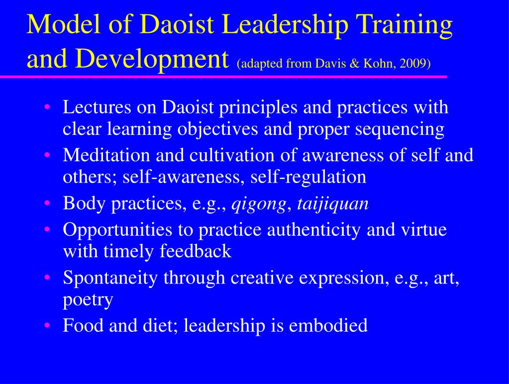 Model of Daoist Leadership Training and Development
