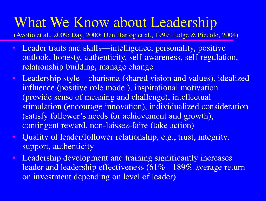 What We Know about Leadership