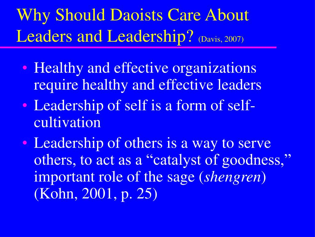 Why Should Daoists Care About Leaders and Leadership?