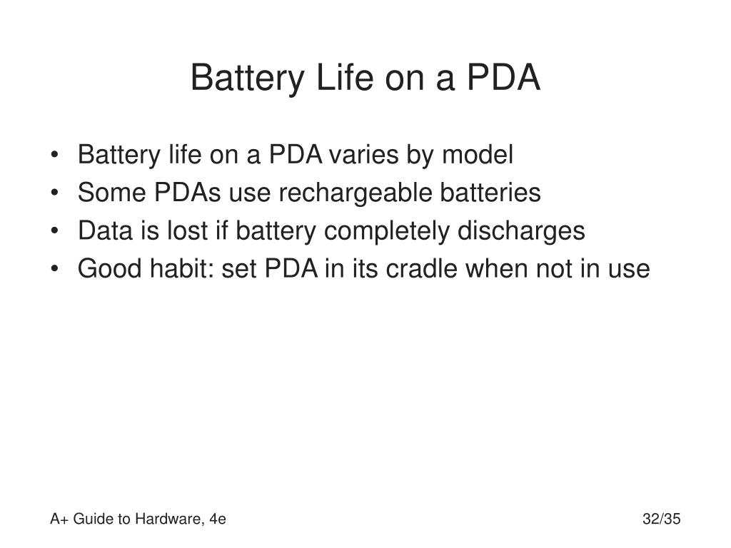 Battery Life on a PDA
