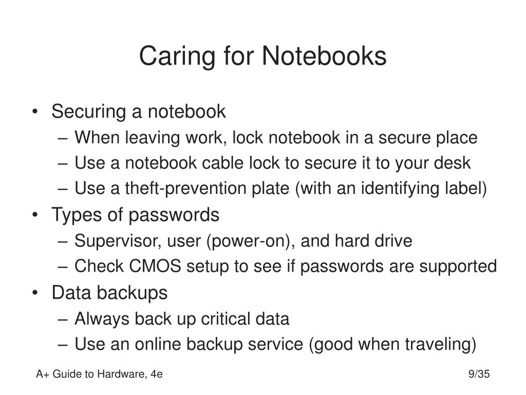 Caring for Notebooks