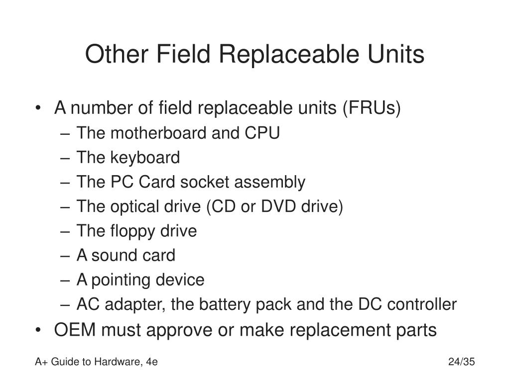 Other Field Replaceable Units