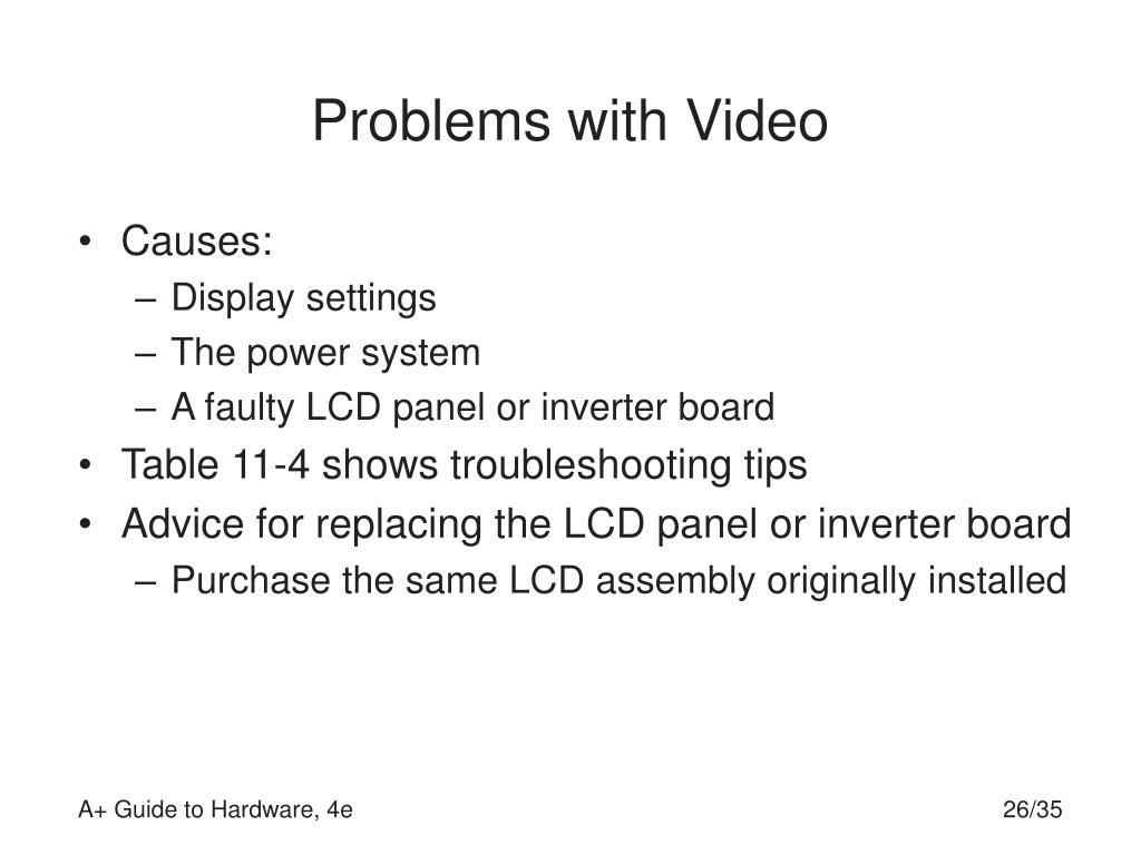 Problems with Video