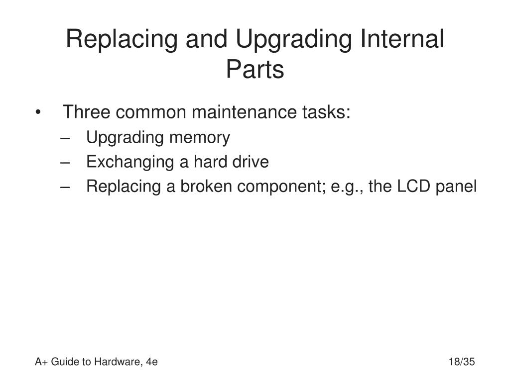 Replacing and Upgrading Internal Parts