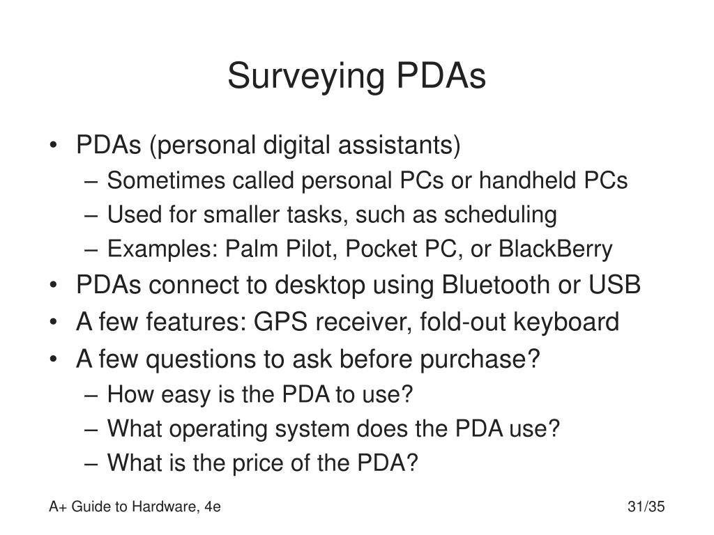 Surveying PDAs