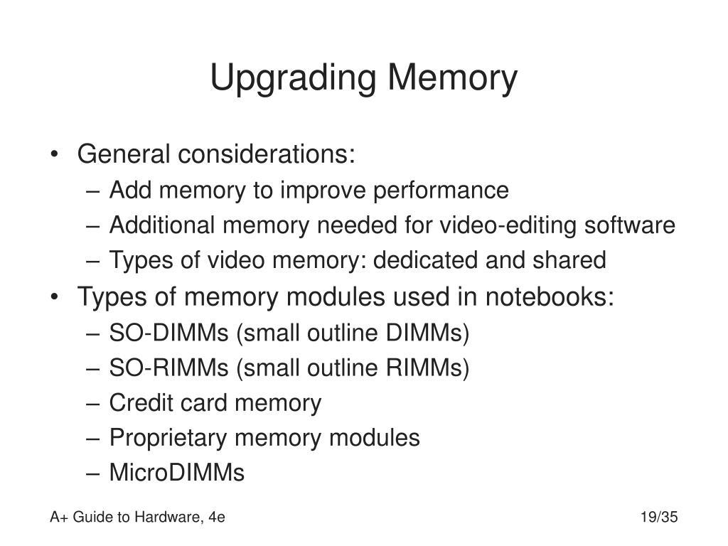 Upgrading Memory