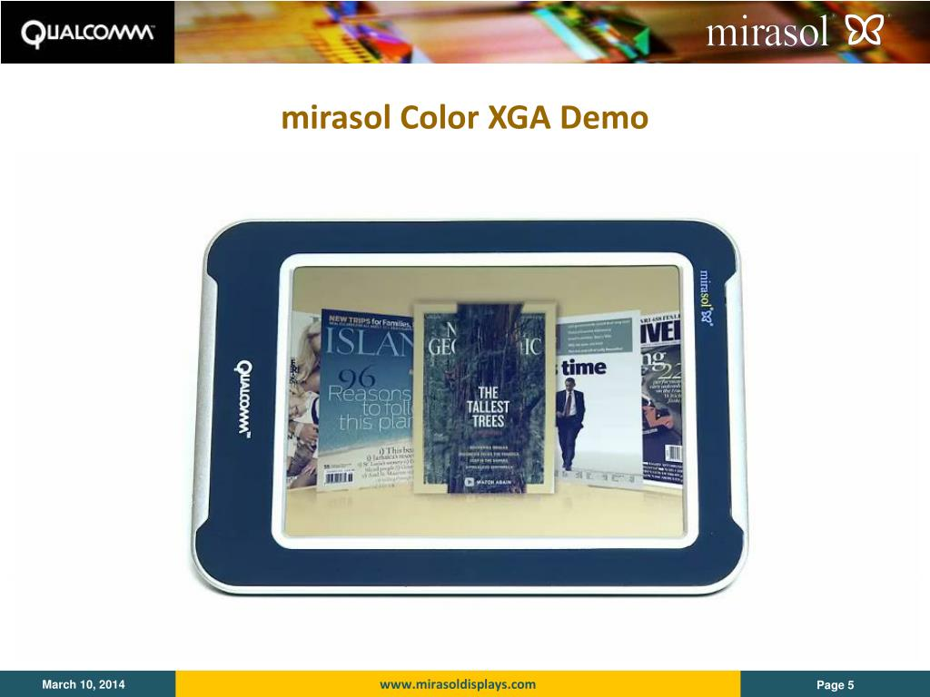 mirasol Color XGA Demo