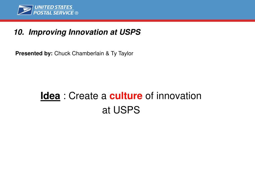 10. Improving Innovation at USPS