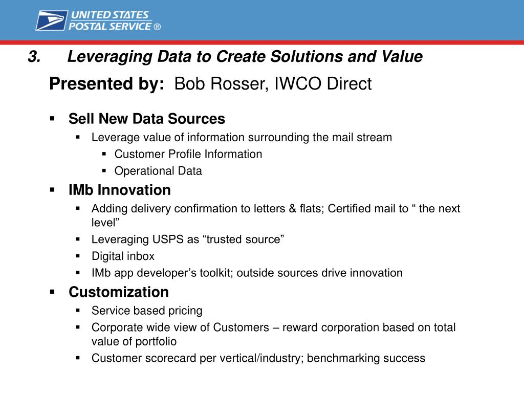 Leveraging Data to Create Solutions and Value