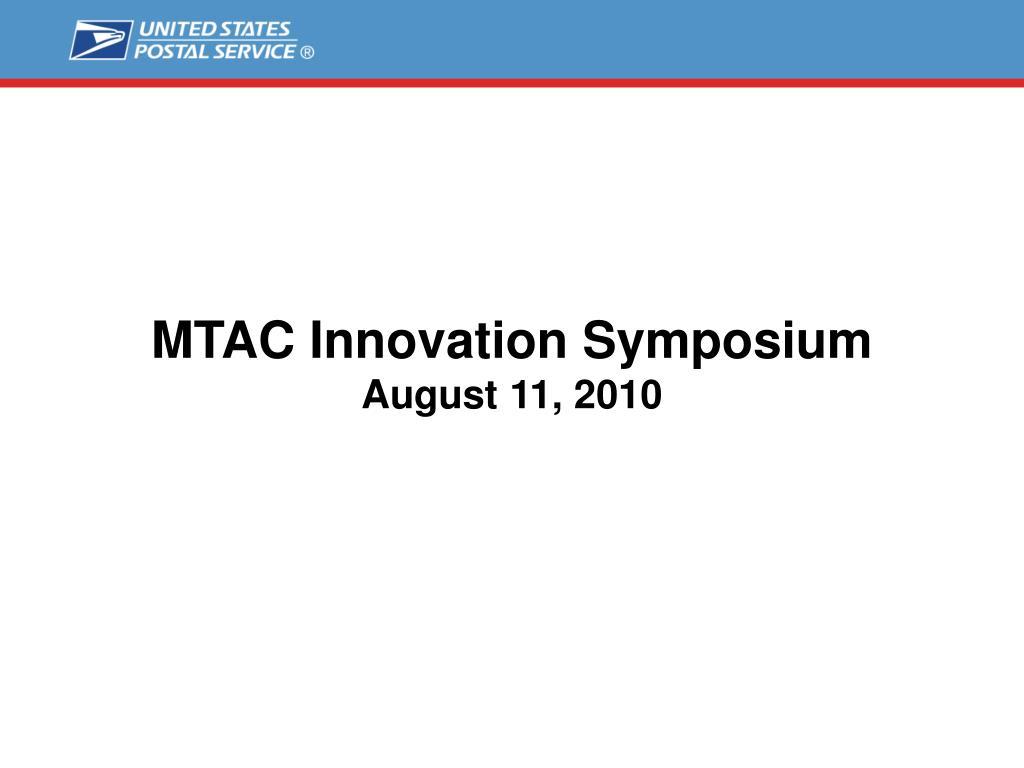 MTAC Innovation Symposium