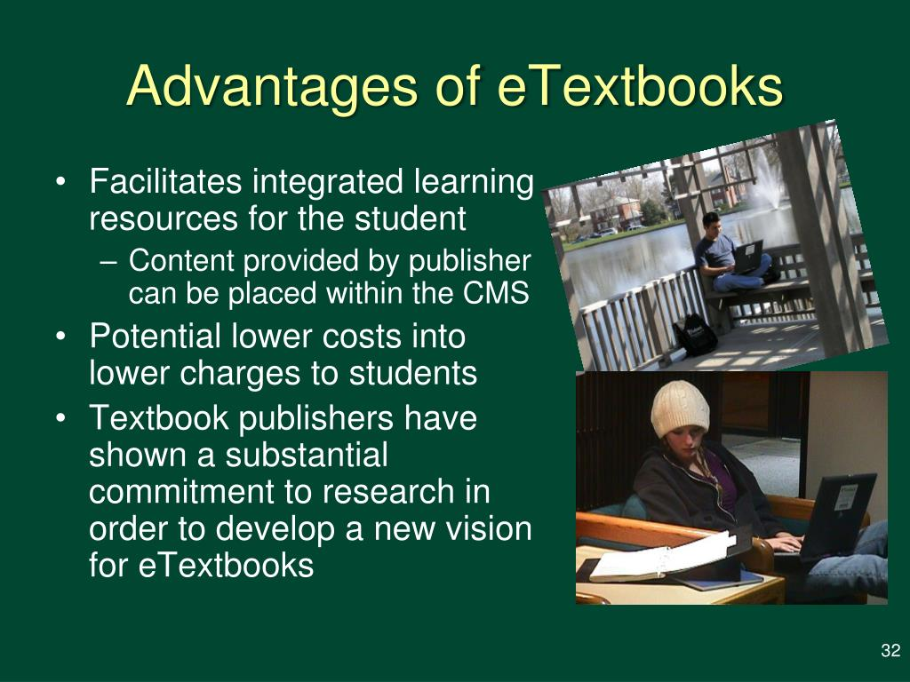 Advantages of eTextbooks