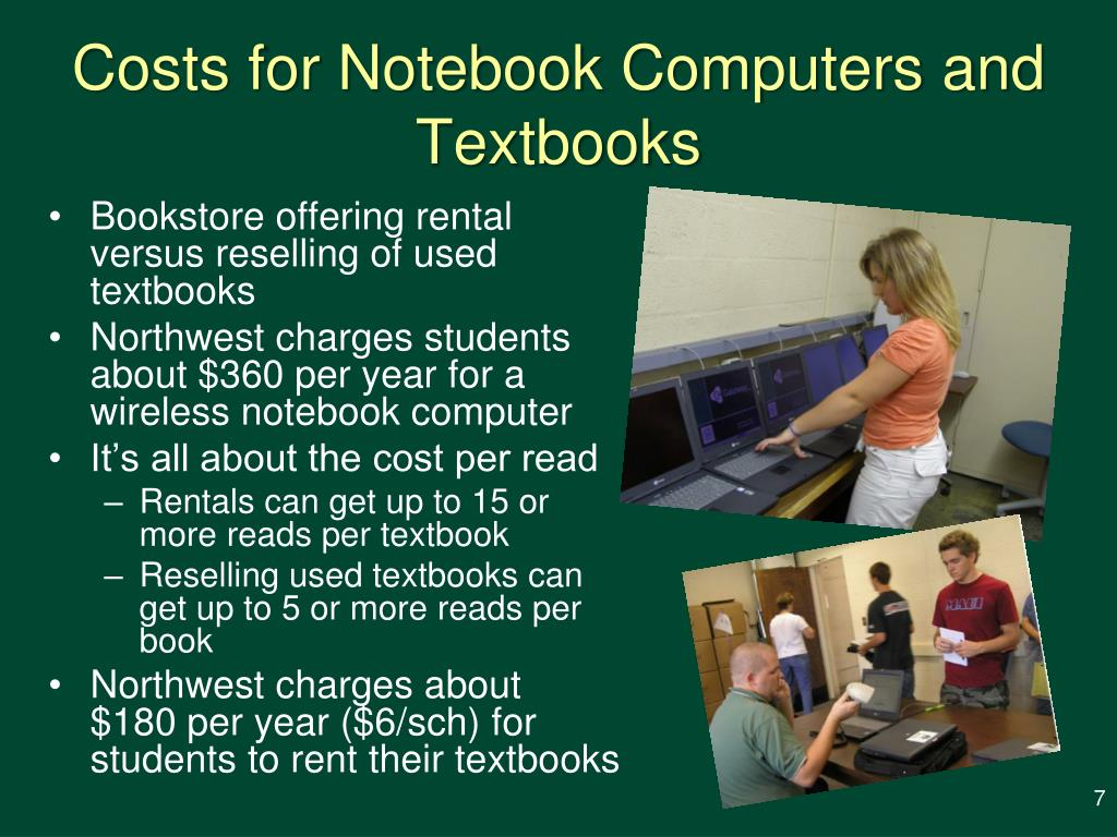 Costs for Notebook Computers and Textbooks