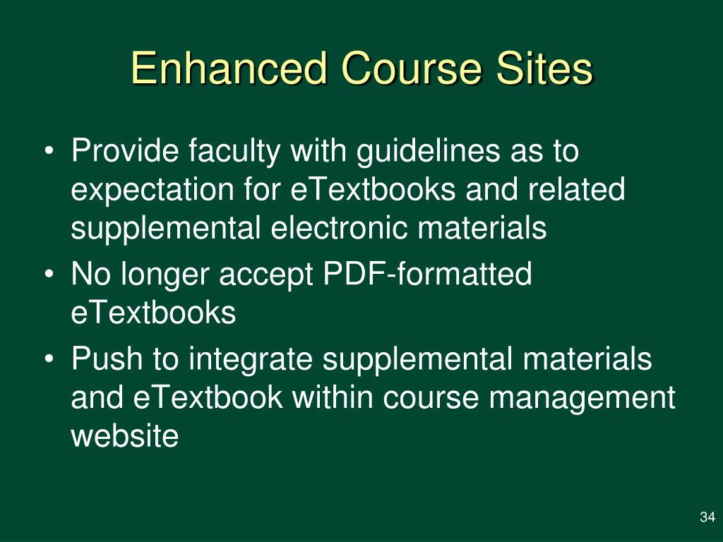 Enhanced Course Sites