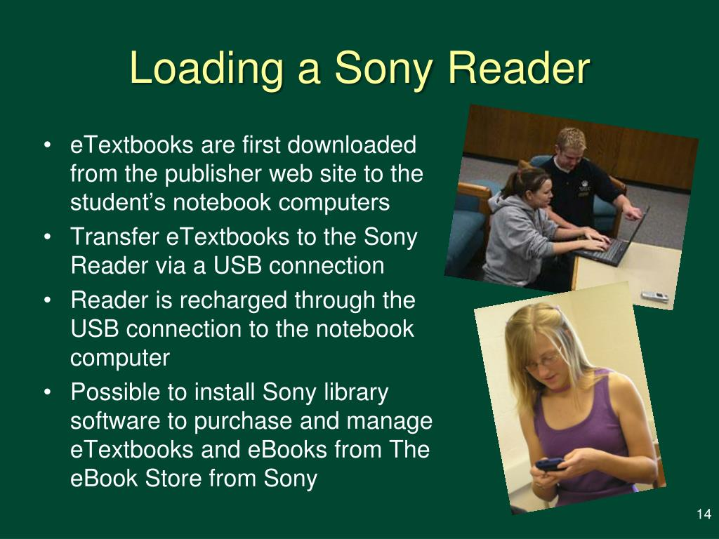 Loading a Sony Reader