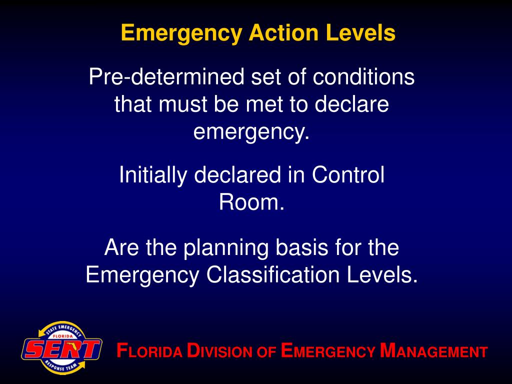 Emergency Action Levels