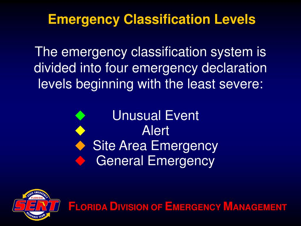 Emergency Classification Levels