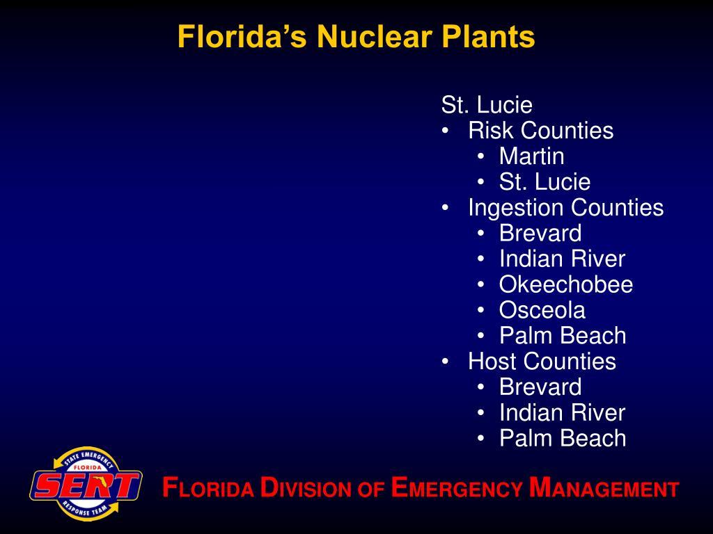 Florida's Nuclear Plants