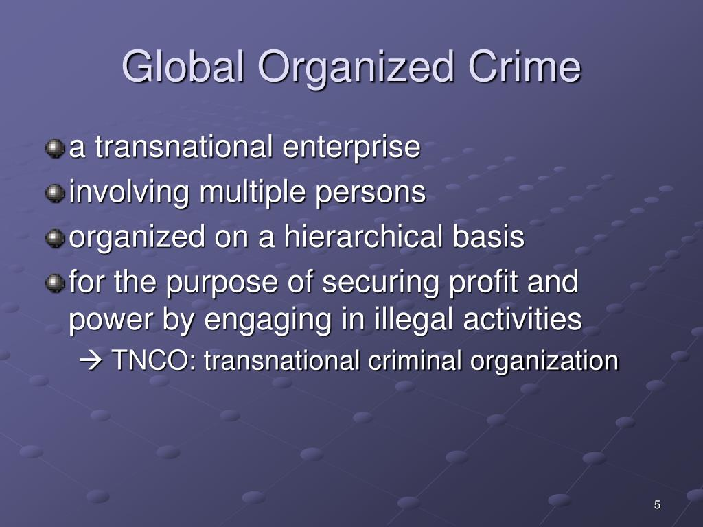 organized crime policy essays