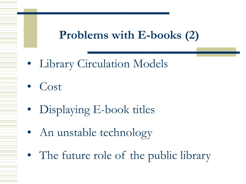 Problems with E-books (2)