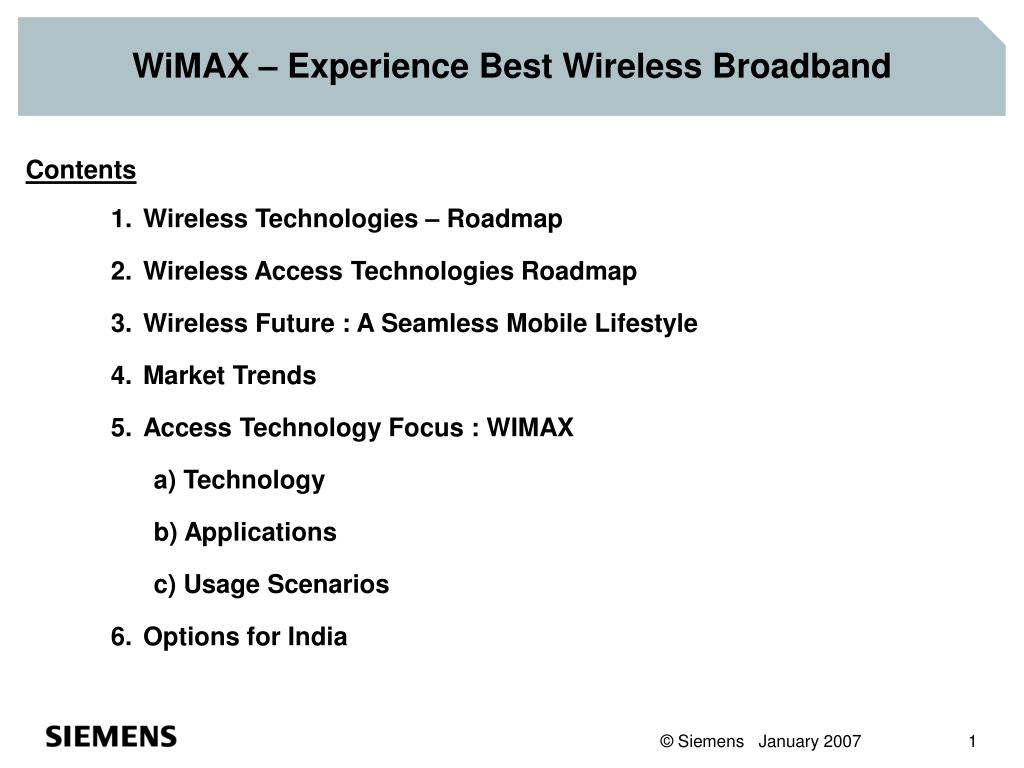 WiMAX – Experience Best Wireless Broadband