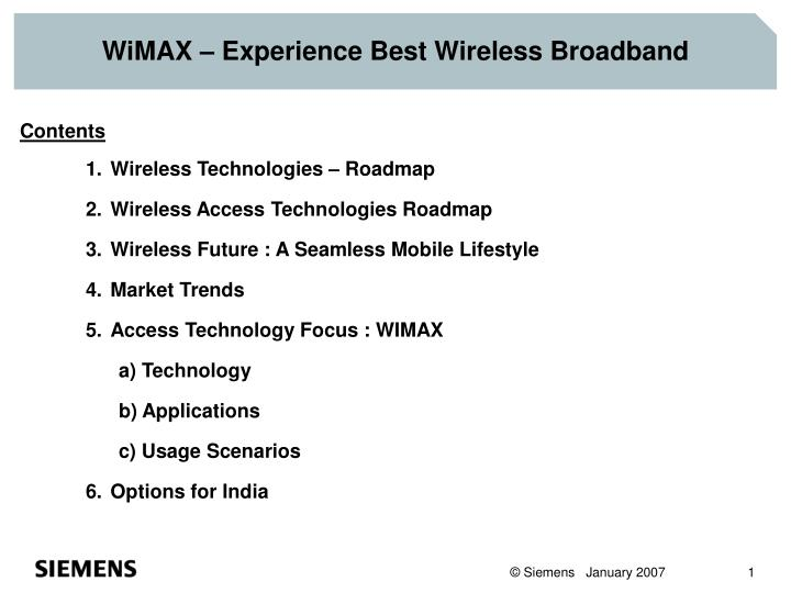 Wimax experience best wireless broadband l.jpg