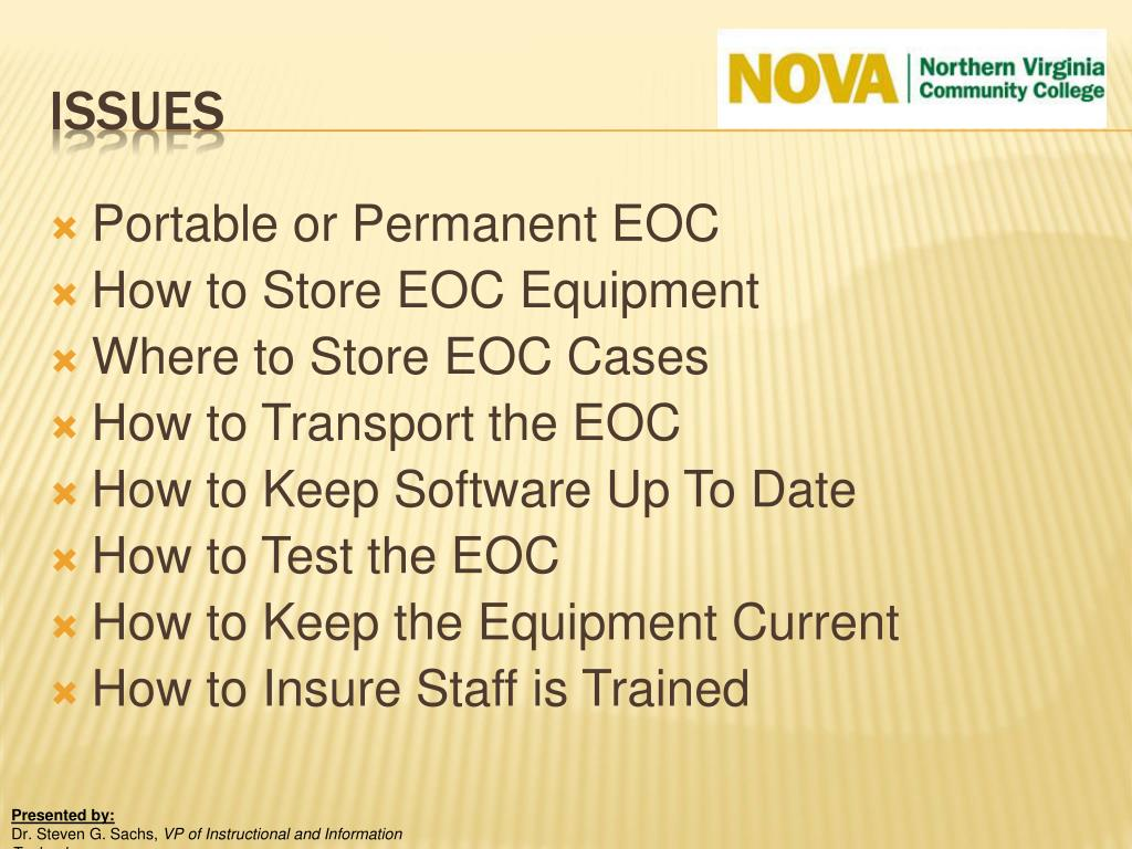 Portable or Permanent EOC