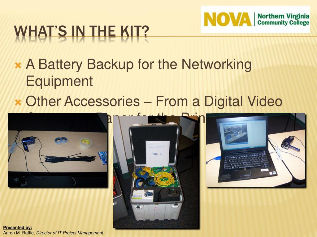 A Battery Backup for the Networking Equipment