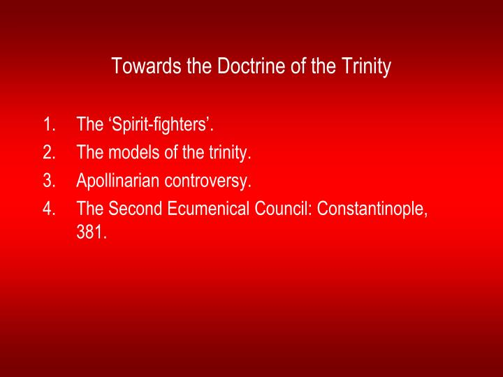 Towards the doctrine of the trinity l.jpg