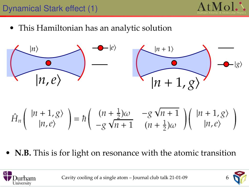 Dynamical Stark effect (1)