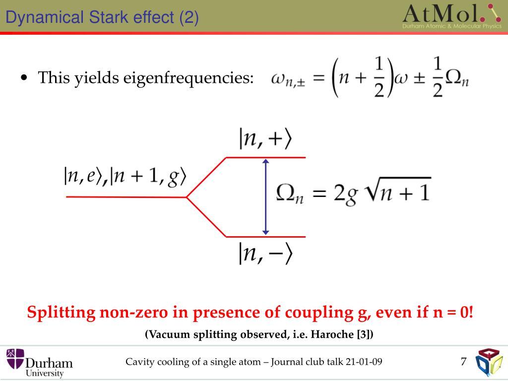 Dynamical Stark effect (2)
