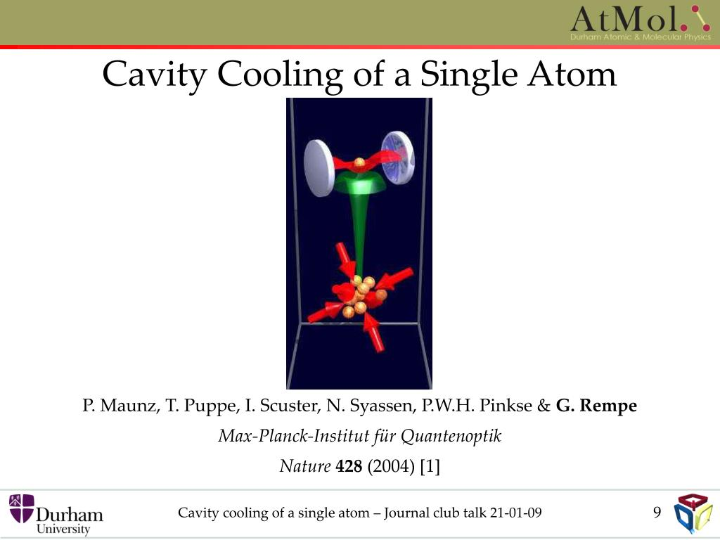 Cavity Cooling of a Single Atom