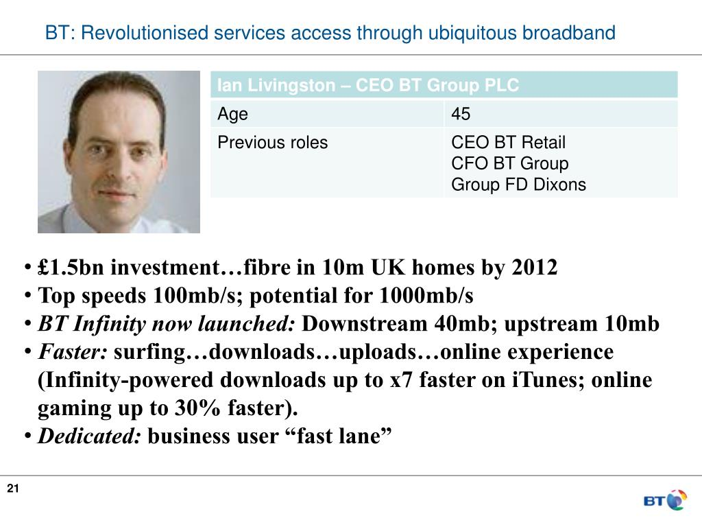 BT: Revolutionised services access through ubiquitous broadband