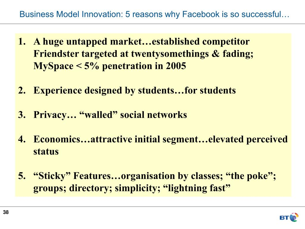 Business Model Innovation: 5 reasons why Facebook is so successful…