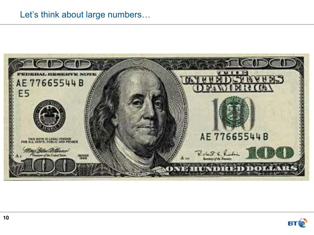 Let's think about large numbers…